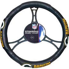 Official NFL Football GREEN BAY PACKERS Logo Black Premium Steering Wheel Cover