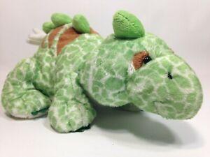 "Ganz Webkinz Stegosaurus Green Dinosaur Stuffed Animal Plush HM465 No Code 10"""