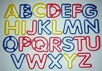Complete A-Z Alphabet Letter Playdoh Cookie Cutters Full Set 26 Pieces Vintage