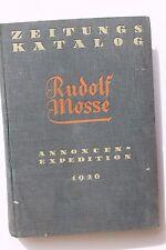 Inviti-Expedition Rudolf mosse: Abbonatone catalogo 1926 tutti i giornali in tutto il mondo