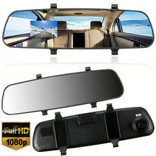 Hot HD 1080P 2.7''  In-Car  Mirror Dash DVR Recorder Dual Lens Camera Monitor