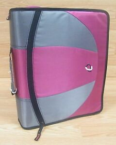 Genuine Case it Dual-100 Pink / Grey / Black 3 D-Ring Zipper / Binder **READ**