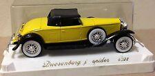 Solido 4035 1:43 1935 YELLOW Duesenberg Spider J w/ Case diecast vintage car