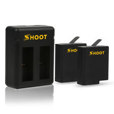 2-Pack Batteries and Dual Charger for GoPro HERO 6 HERO 5 Black Hot