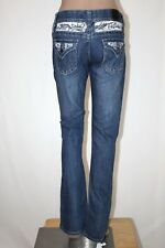 RED RIVET Junior Women's Size 3 Embellished Boot Cut Stretch Jeans 33 Inseam GUC