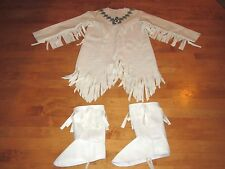 GIRLS RUBIES NATIVE AMERICAN INDIAN COSTUME with BOOT COVERS SIZE MEDIUM 8-10