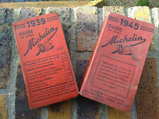 RARE SET OF 2 MICHELIN GUIDES FRANCE 1939 & 1945 WW2 FULL & VERY WELL CONSERVED