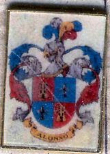 Heraldry PIN metallic del last name : ALONSO