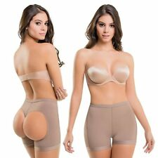 Fajate VS Booty Butt Bra Shaper Faja Colombiana Levanta Cola NEW MOCHA COLOR 202
