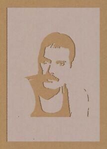 Freddie Mercury 2 Freddy Queen Stencil Celebrity Rock Star Foo Fighters