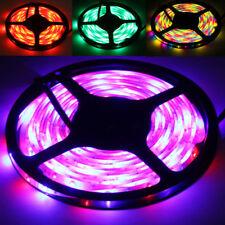 5M SMD 3528 RGB LED Streifen Strip Leiste Kette Lichter Band Trafo Fernbedienung