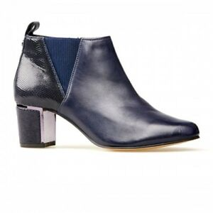 Van Dal Tangier Midnight Blue Ladies Ankle Boots Size UK 3 EE Fitting