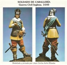 ART GIRONA I-7 - SOLDADO DE CABALLERIA, GUERRA CIVIL INGLESA 1640 54mm METAL KIT