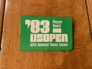 1983 US OPEN PLAYER GUEST BADGE BUTTON PIN PINBACK TENNIS SUPER RARE VINTAGE