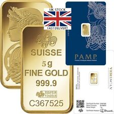 🇬🇧 PAMP 5 Gram Gold Bar Great GIFT INVESTMENT  FREE FAST 🇬🇧 DELIVERY