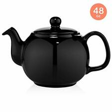 SAKI Large Porcelain Teapot, 48 Ounce Tea Pot with Stainless Steel Infuser