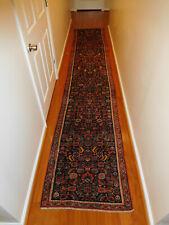 Antique Persian Heriz lovely long narrow runner 2.6x13.7carpet ca. 1920s