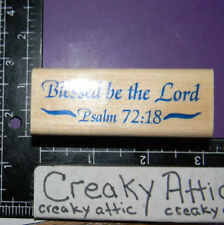 Blessed Be The Lord Bible Rubber Stamps Stampabilites Dr1009