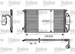 1 Condenseur, climatisation VALEO 817809 convient à FIAT OPEL SAAB VAUXHALL