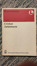 Zahlentheorie (Mathematik für Lehrer) Krätzel 1991