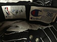 1991 GAME WORN ORLANDO MAGIC AWAY CHAMPION WARM UP TEAR OFF PANTS