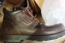 Rockport XCS Marangue Moc-Toe Waterproof Leather/Canvas Boot APM3505DM Dk Brown