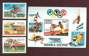 Sierra Leone 1984 3 stamps+block № 741-43+bl20 set MNH CV=12.50€