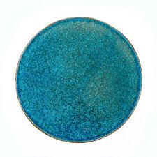 Decorative Platter Large - Ceramic & Blue Glass - Handmade Modern Centerpiece