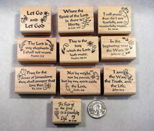 10 Scripture Stamps, Wood Mounted, Set #3