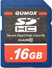 NEW QUMOX MEMORY CARD 16GB SDHC CARD CLASS 10 MEMORY CARD FOR CAMERA