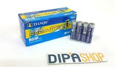 Set 40 Pile Batterie TIANQIU R03P AAA Mini Stilo 1.5V 4S Zinco Carbone moc