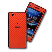 Sony Xperia Z1 Compact 3d De Colores De Fibra De Carbono Piel Wrap pegatina cubierta calcomanía