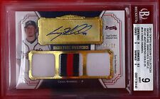 CRAIG KIMBREL 2012 TOPPS MUSEUM SWATCHES TRIPLE RELIC AUTOGRAPHS GOLD #/25  #CK