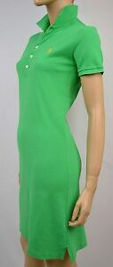 Ralph Lauren GREEN POLO DRESS YELLOW PONY NWT XS