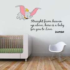 LARGE Dumbo Quote Colour Children's Wall Sticker Vinyl Decal Wall Art Transfer