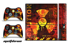 Skin Decal Wrap for Xbox 360 E Gaming Console & Controller Sticker MELTDOWN