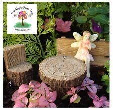 Fairy garden furniture - log bench set of 3