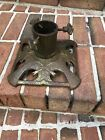 Antique  Cast Iron Christmas Feather Tree Stand Made In Germany  by Geschultz