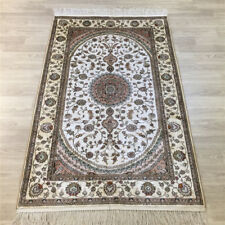 YILONG 3'x5' Handknotted Silk Porch Carpet Traditional Antistatic Area Rug Y023C