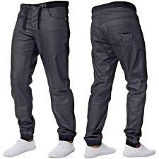 ENZO Herren Designer Bündchen Jogger Jeans elastisch Denim Hose alle Bund Grössen