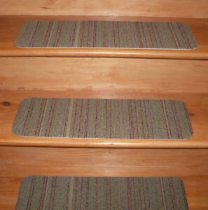 13 Step Indoor Stair Treads Staircase Step Rug Carpet  8'' x 24''  0082.