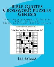 Bible Quotes Crossword Puzzles - Genesis: By Lee Byram
