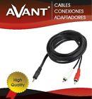 Cable Adaptador Audio - Jack Macho Estereo 3,5 mm A 2 RCA Macho - 1,8 Metros -