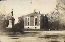 South Braintree MA Monument & Library c1910 Real Photo Postcard