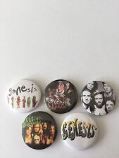 5 Genesis button badges Phil Collins Invisible Touch Foxtror I Can't Dance