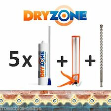5 x Dryzone Injektionscreme - Horizontalsperre, Wandabdichtung, Kellerabdichtung