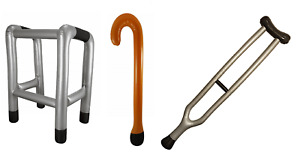 Inflatable Blow Up Walking Stick Crutch Zimmer Frame Party Fun Novelty Joke Gift