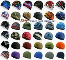 Moisture Sweat Wicking Cooling Bald Dome Skull Cap Helmet Liner Sport Beanie Hat
