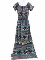 Love...Ady Abstract Tie Dye Off-the-Shoulder Maxi Dress XS