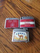 Lot Of 3 Cigarette Lighters Pall Mall Cigarettes Winston Cigarettes And Camel...
